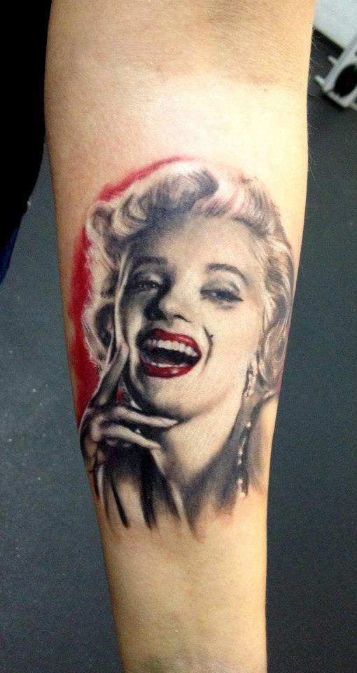 тату портрет Мэрилин Монро - Эскизы татуировок