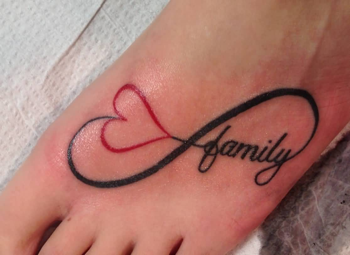 46 heart infinity symbol tattoos love family infinity symbol tattoo on foot biocorpaavc Image collections