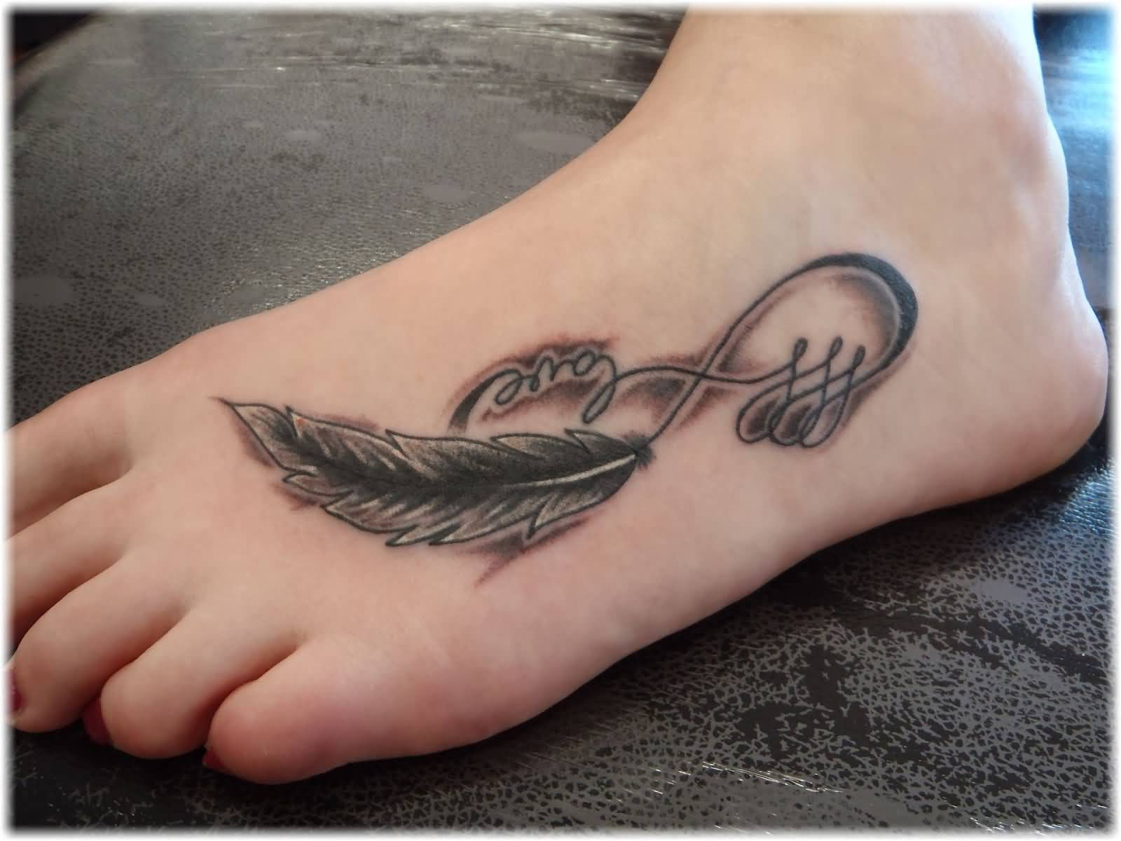 Infinity Love Tattoo On Foot 42+ Anchor Infi...