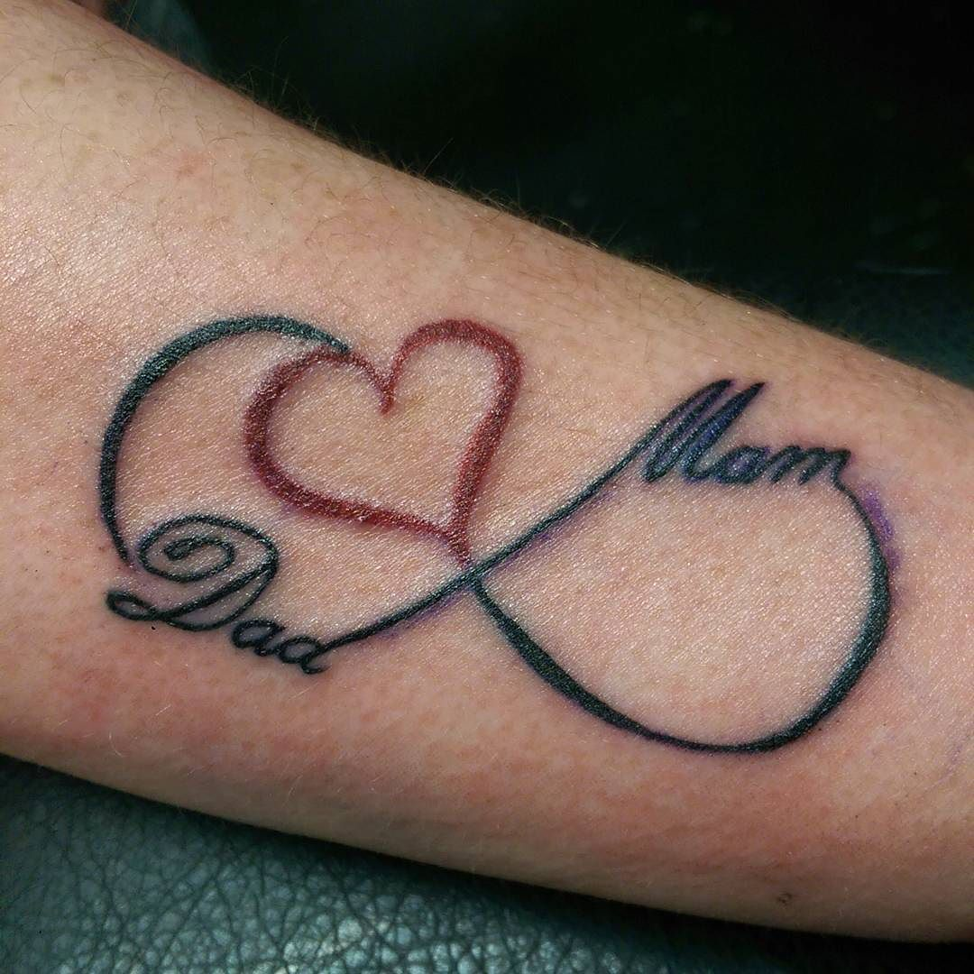 46 heart infinity symbol tattoos for Tattoos symbolizing parents