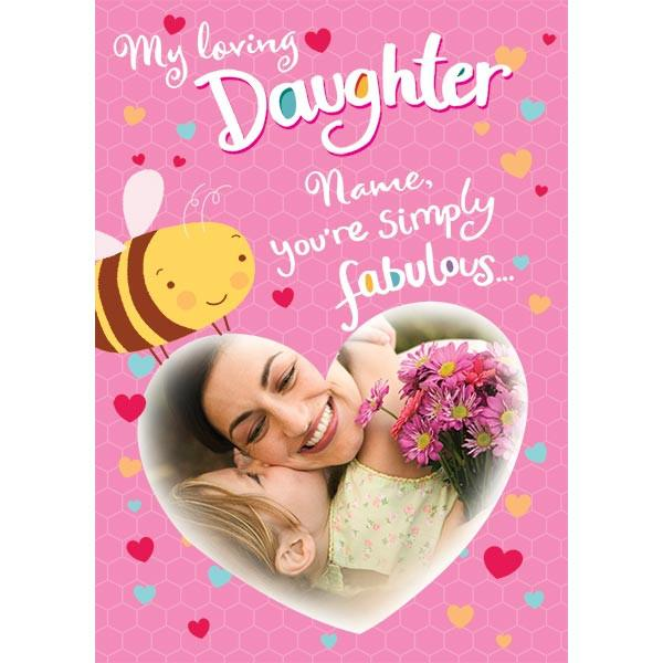 42 latest happy daughters day greeting pictures my loving daughter name youre simply fabulous happy daughters day greeting card m4hsunfo