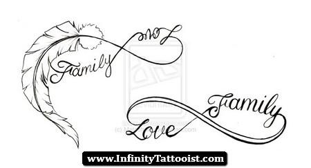 Infinity Family Symbol Tattoos