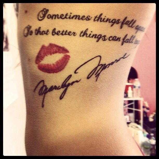 Cute Quotes For Tattoos Girly: 25+ Marilyn Monroe Quote Tattoos