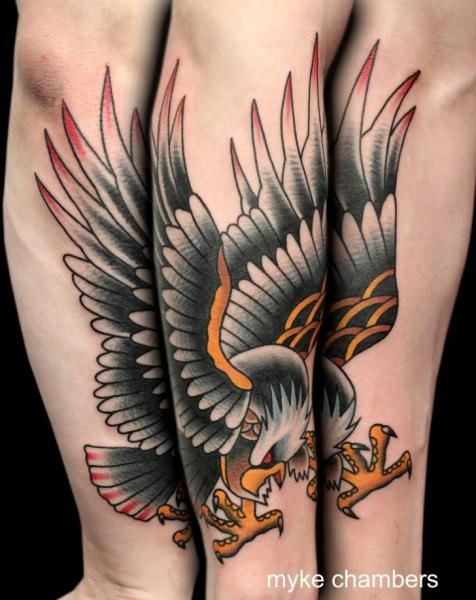 40 old school eagle tattoos for Eagle tattoo arm