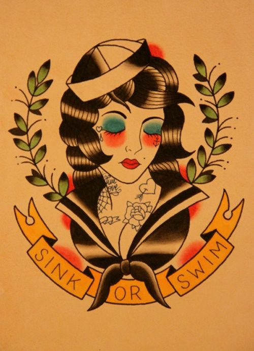 50 old school tattoo stencils