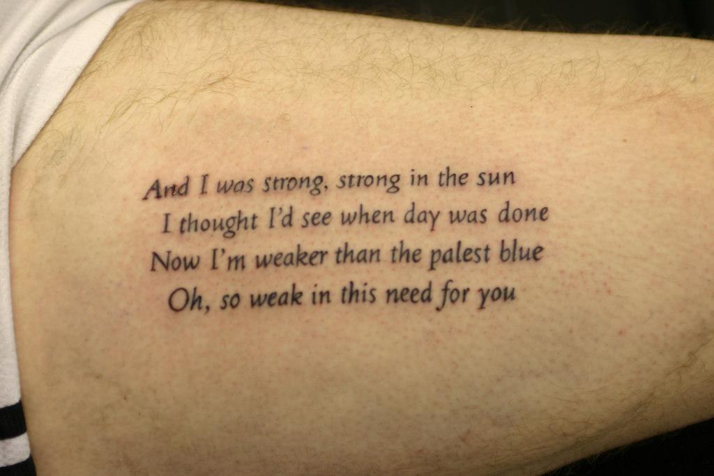 0f2427afd Nice Poem Tattoo By Johnny Gage