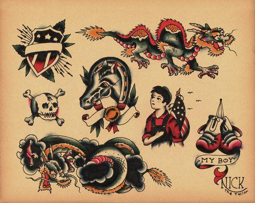 50 old school tattoo stencils. Black Bedroom Furniture Sets. Home Design Ideas