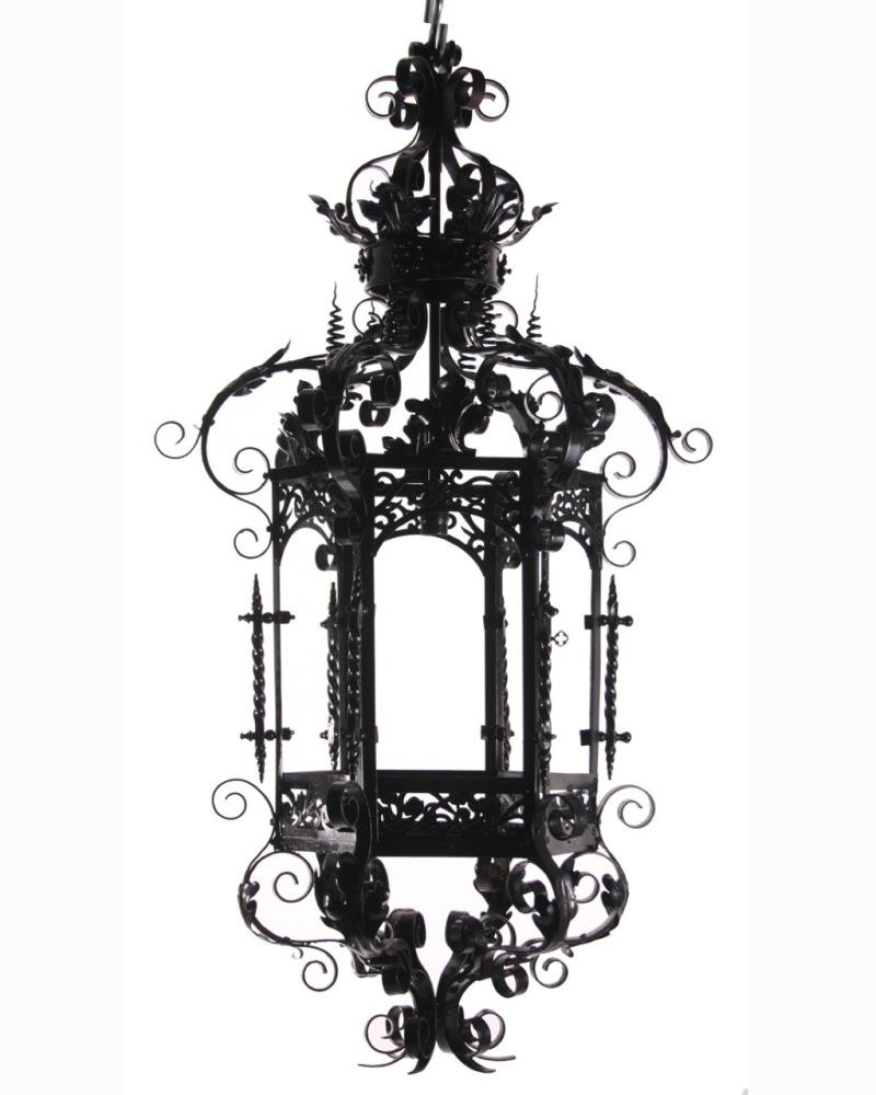 Ornate Antique Lantern Tattoo Design