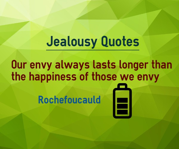 Our Envy Always Lasts Longer Than The Happiness Of Those