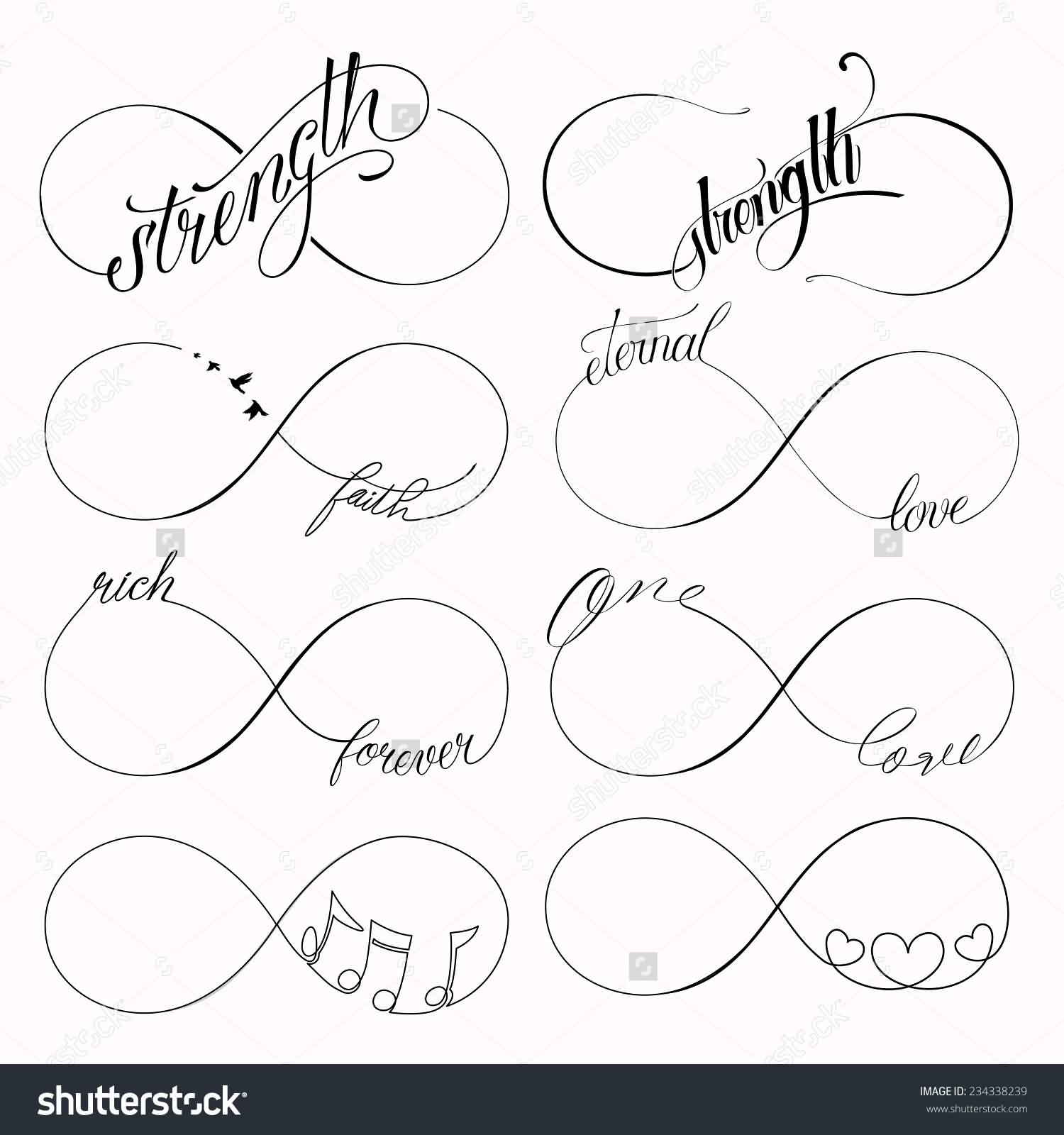 55 infinity symbol tattoo designs popular infinity symbols tattoo design buycottarizona Choice Image