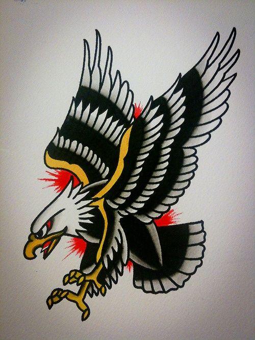 40 old school eagle tattoos. Black Bedroom Furniture Sets. Home Design Ideas
