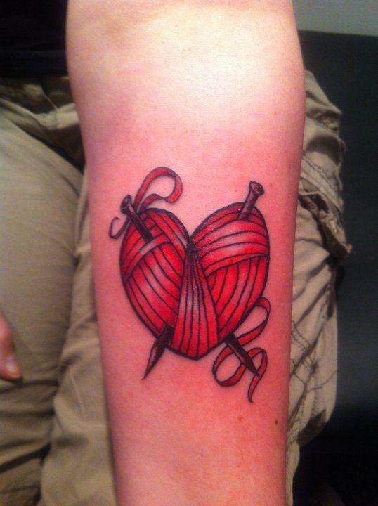 Knitting Tattoo Ideas : Best knitting tattoos