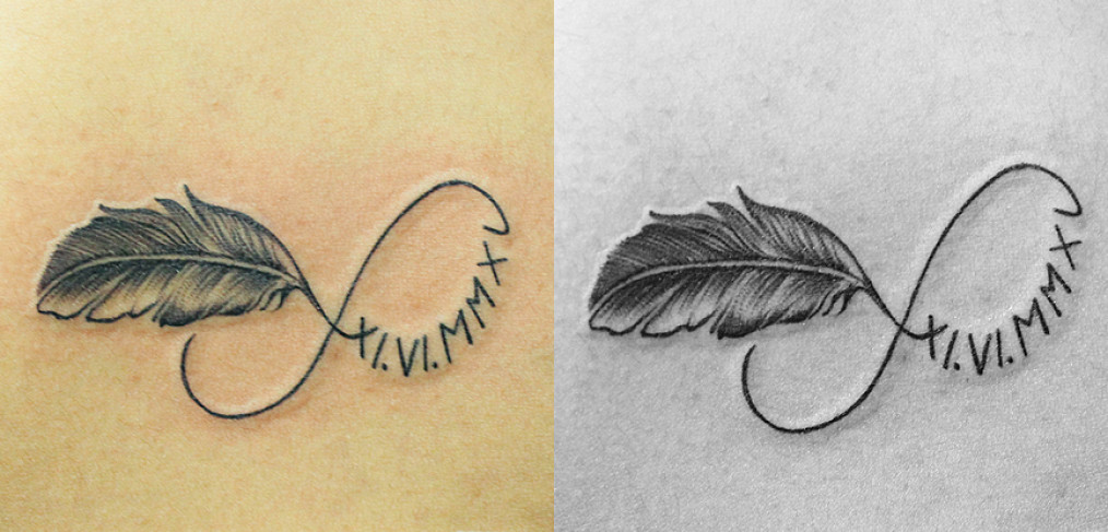 40 Feather Infinity Symbol Tattoos