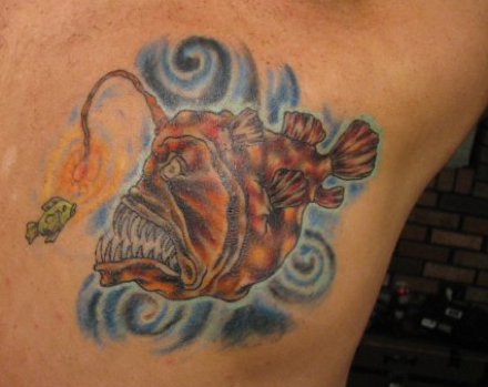 50 angler fish tattoos ideas for Simple pisces tattoo