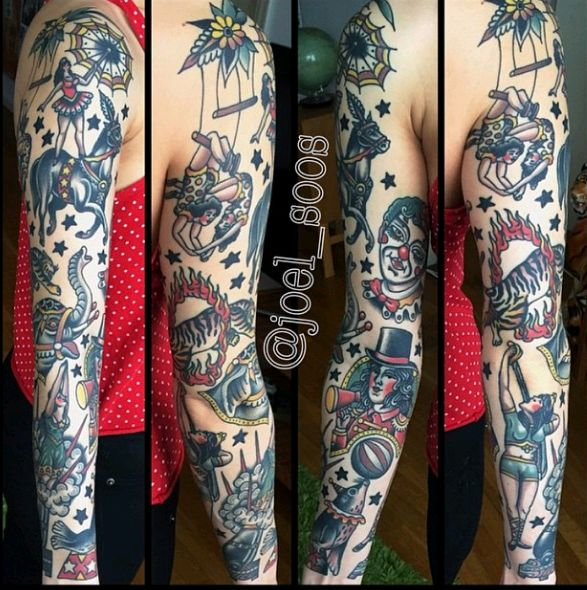 39 Old School Tattoos On Sleeve