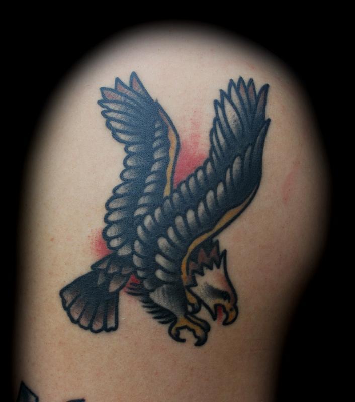 40 old school eagle tattoos