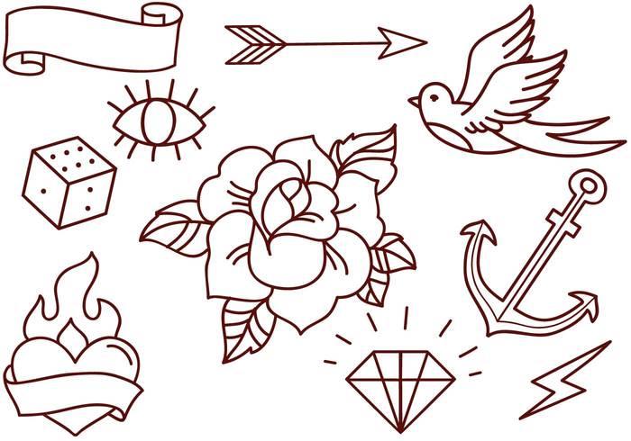 49 old school tattoo designs. Black Bedroom Furniture Sets. Home Design Ideas