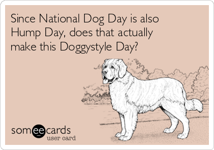 55 most beautiful national dog day greeting pictures and photos since national dog day is also hump day does that actually make this doggystyle day m4hsunfo