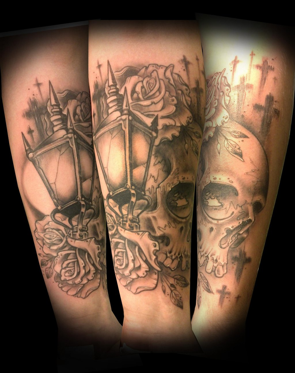 Skull Lantern Tattoo On Arm Sleeve By Vinoshitto