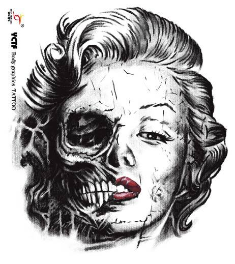 26 marilyn monroe tattoo designs for Marilyn monroe skull tattoos