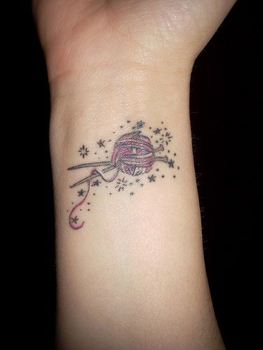 Knitting Needle Tattoo : Best knitting tattoos