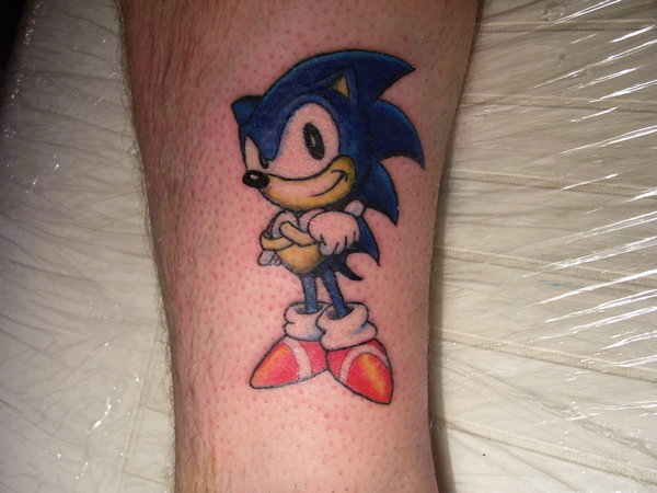 Small Sonic Tattoo By Tin23uk