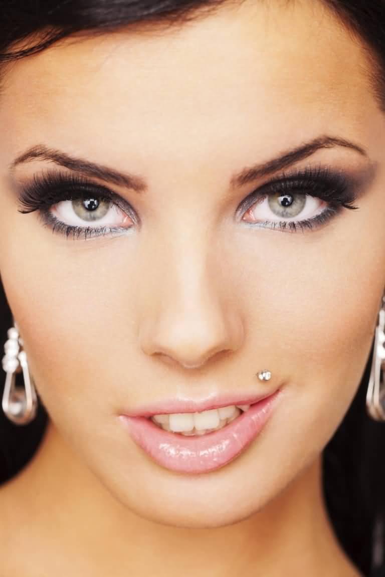Stylish Monroe Piercing With Dermal Anchor