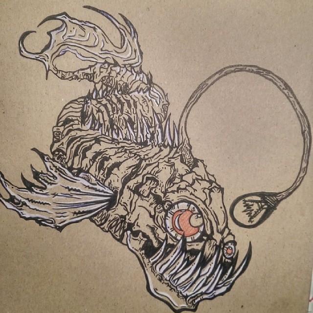 18 angler fish tattoo designs. Black Bedroom Furniture Sets. Home Design Ideas