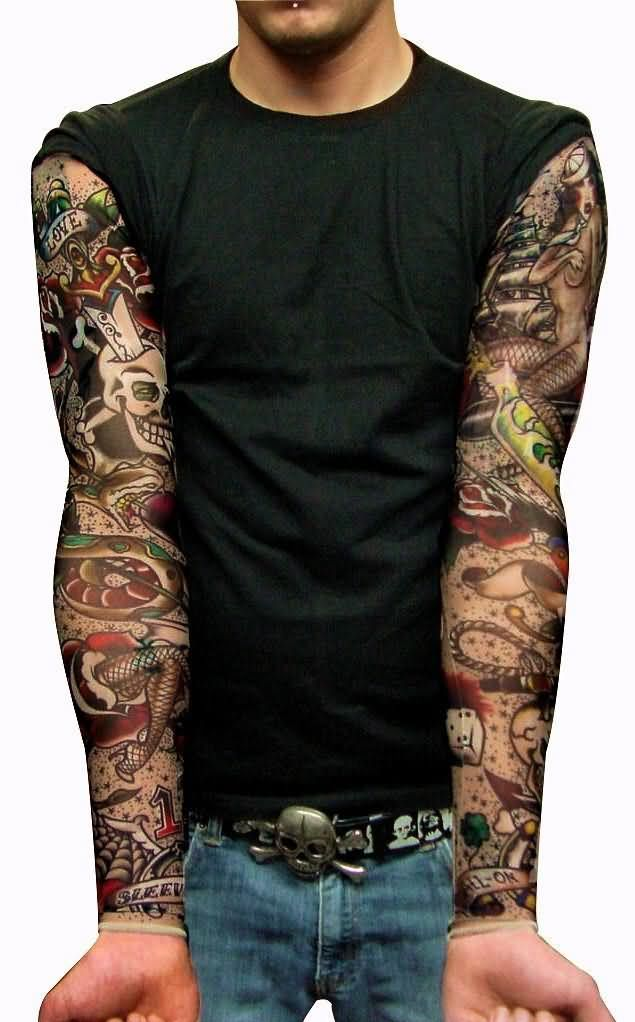 39 old school tattoos on sleeve for Male sleeve tattoo ideas