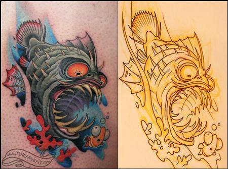 18 Angler Fish Tattoo Designs