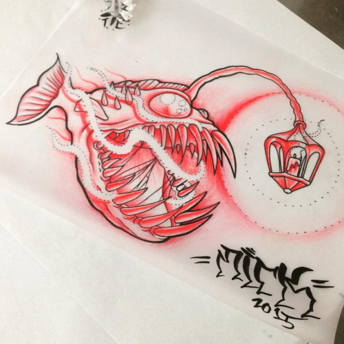 Cartoon Angler Fish Tattoo Images & Pictures - Becuo | 500 x 500 jpeg 85kB