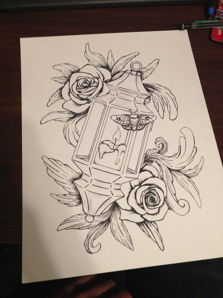 52 lantern tattoos designs for Tattoo designs to draw