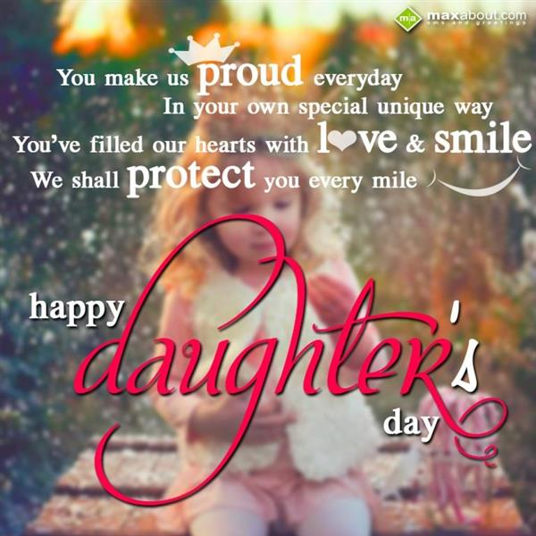 42+ Latest Happy Daughters Day Greeting Pictures
