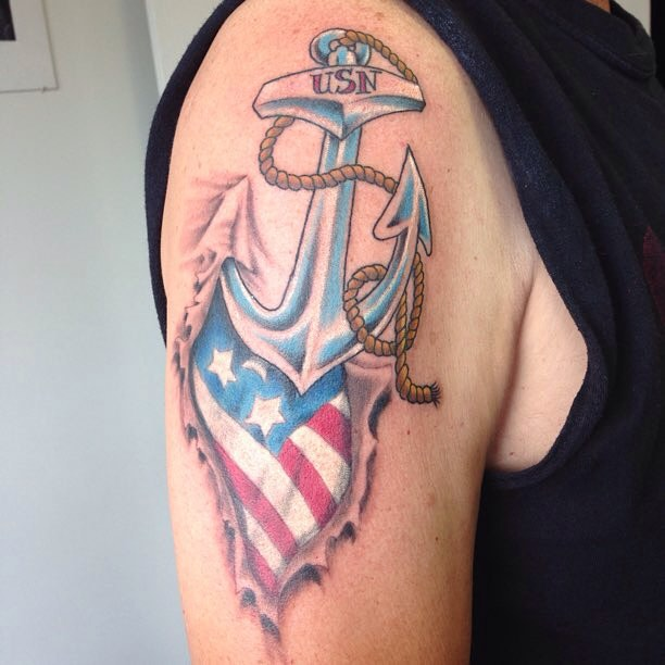 Tattoo Ideas Navy: 11+ Navy Tattoos On Shoulder