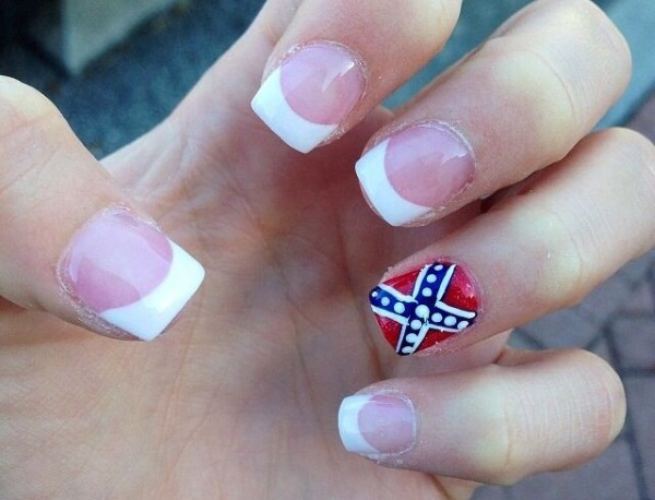 Accent Flag Nail Art - 50+ Most Beautiful Flags Nail Art Ideas