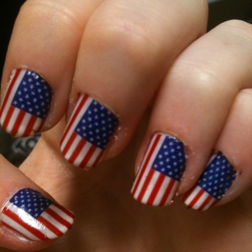 50 Most Beautiful Flags Nail Art Ideas