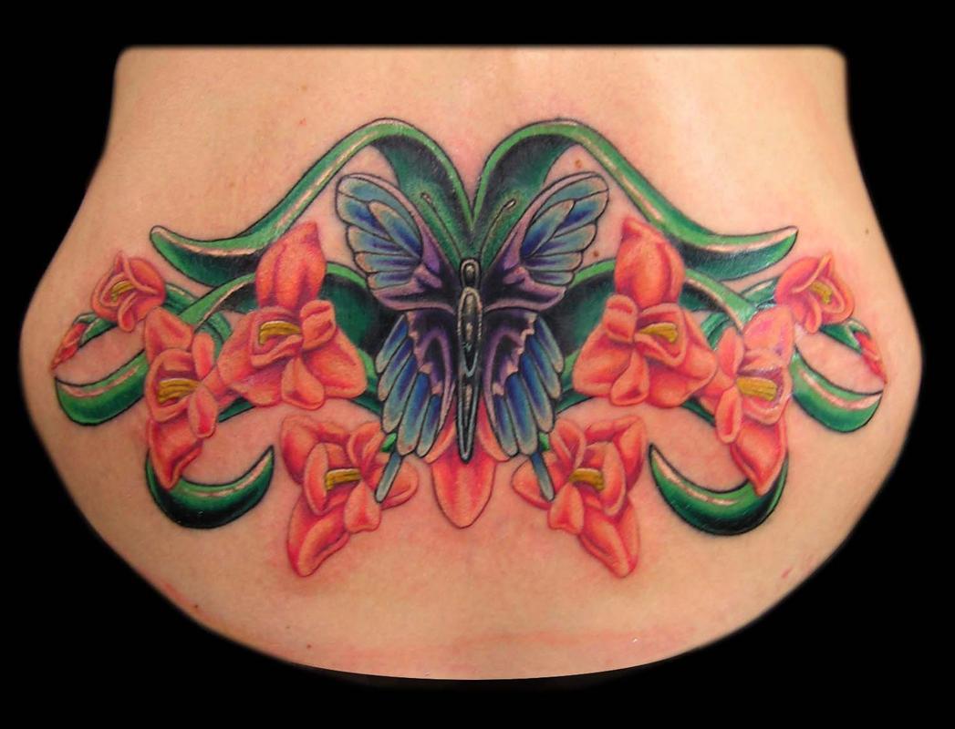 45 wonderful gladiolus tattoos. Black Bedroom Furniture Sets. Home Design Ideas