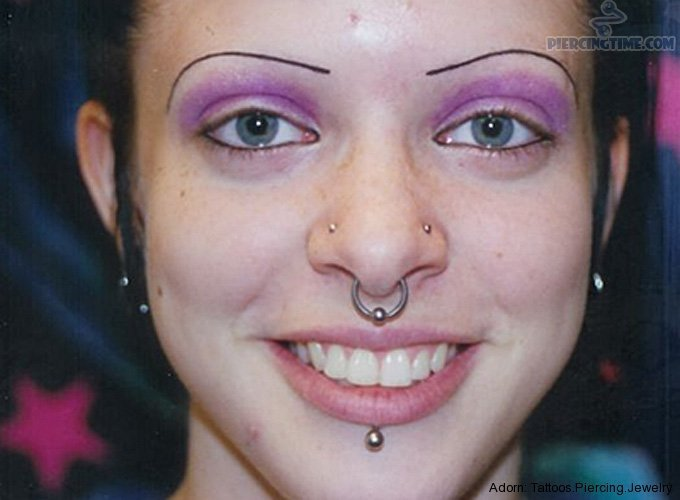 45 Awesome Nasal Septum Piercing Pictures