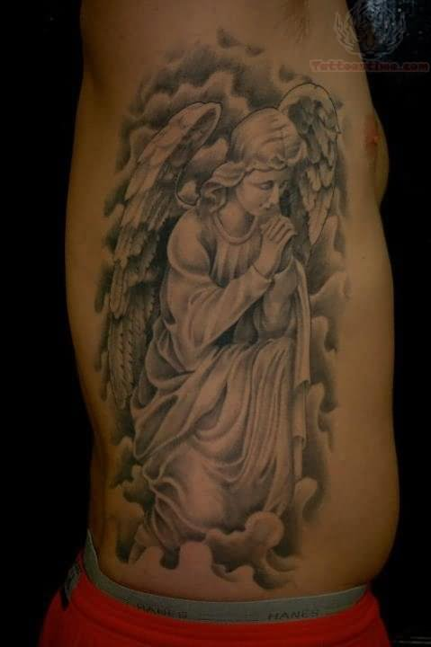50 cute praying angel tattoos. Black Bedroom Furniture Sets. Home Design Ideas