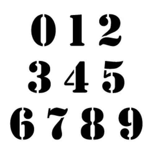 black 1 to 9 numbers tattoo design