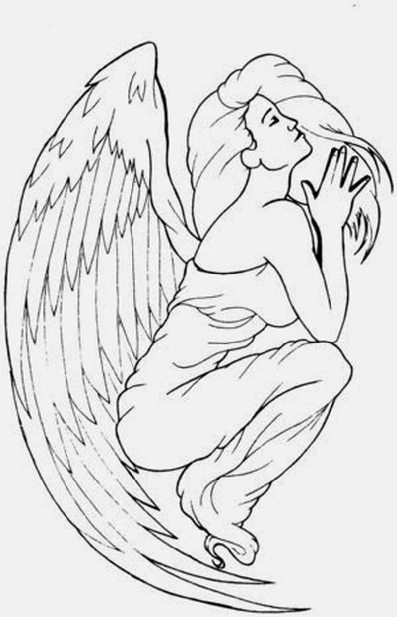 12 praying angel tattoo designs. Black Bedroom Furniture Sets. Home Design Ideas