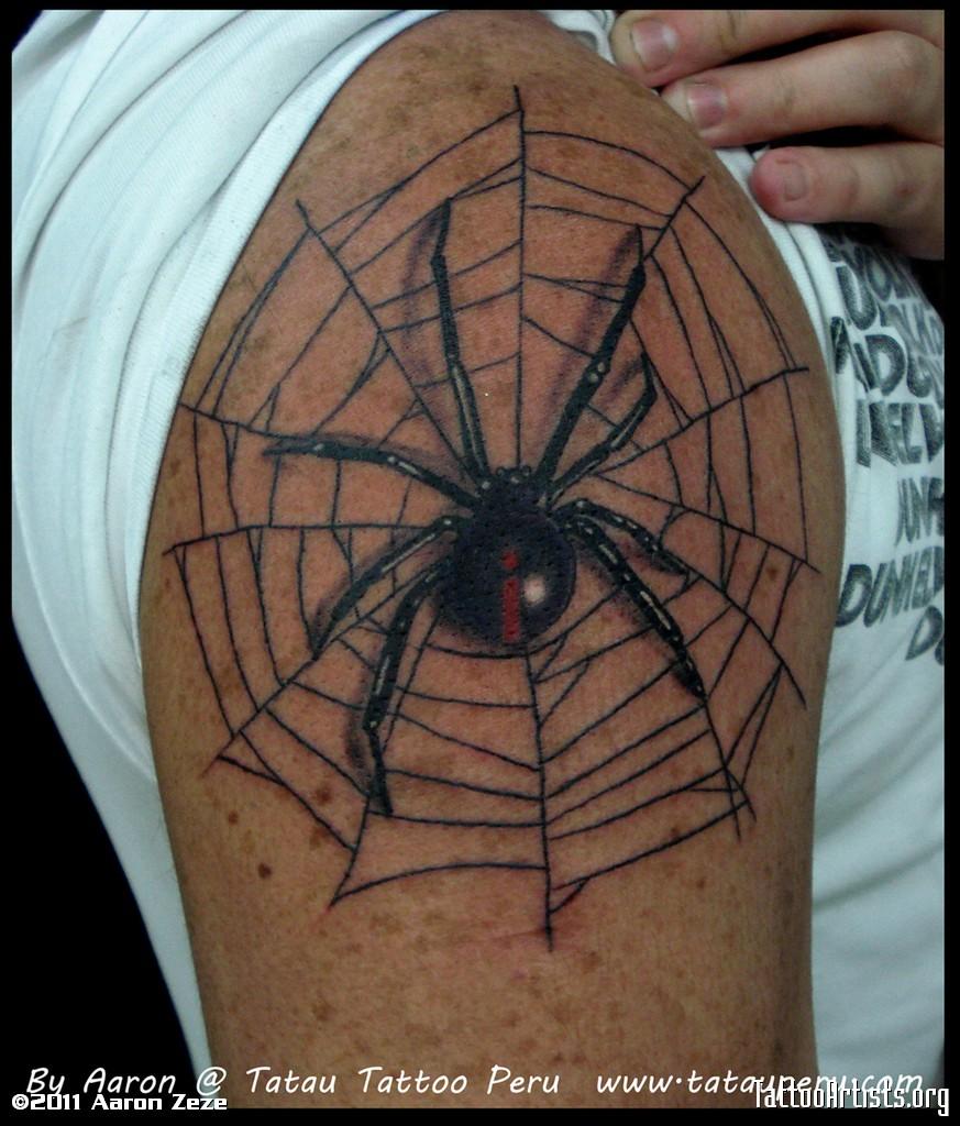 13+ Black Widow Tattoos On Shoulder