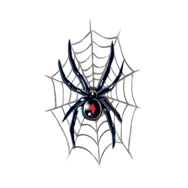 20 black widow tattoo designs