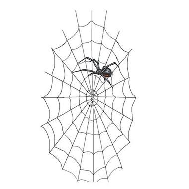 Black Widow With Web Tattoo Design