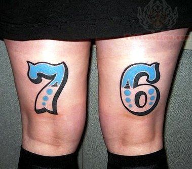 58 incredible number tattoos ideas for Number 7 tattoo gallery