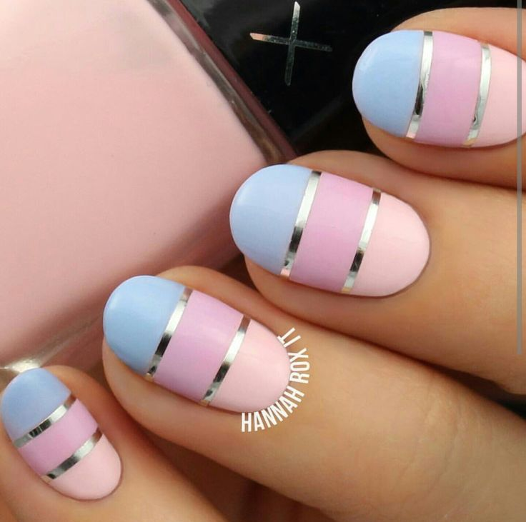 Nail Art With Tape: 55 Best Striping Tape Nail Art Design Ideas