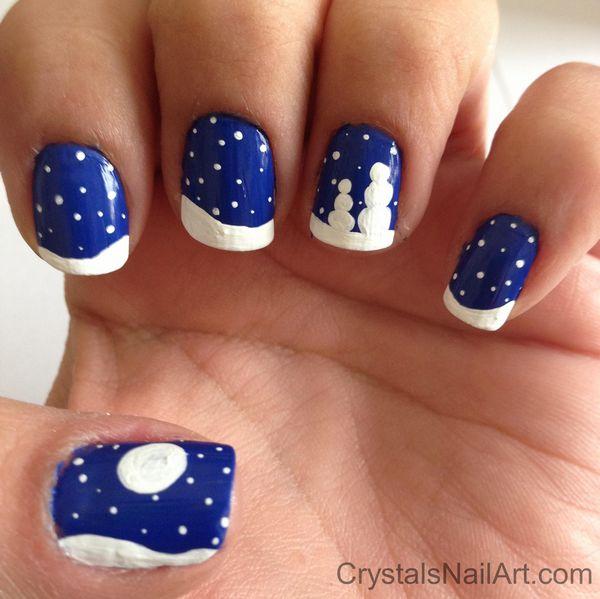 Snowman Nail Art Tutorial: 50 Most Stylish Christmas Nail Art Ideas