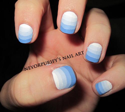 16 Super Cool Ombre Gradient Nail Art Tutorials: 60 Classy Gradient Nail Art Designs