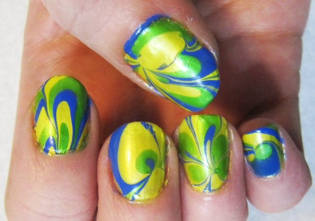 Blue And Yellow Nail Art Designs Hession Hairdressing