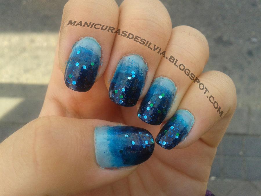 60 classy gradient nail art designs blue gradient nail art by kotobayaoi prinsesfo Choice Image